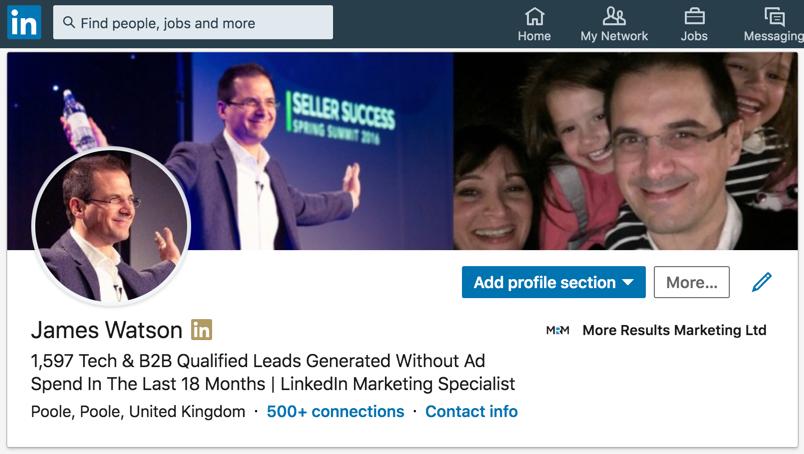 James Watson LinkedIn Marketing Expert